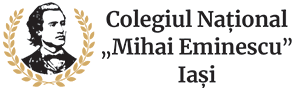 """Colegiul Naţional """"Mihai Eminescu"""" Iaşi Logo"""